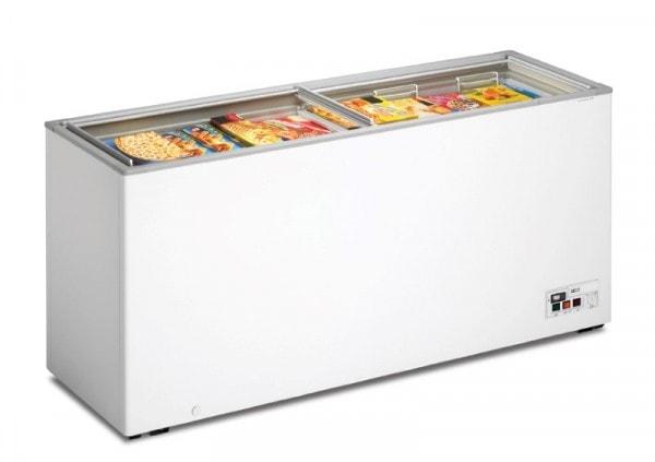 Tiefkühltruhe - mit Glasschiebedeckel - 1810x600x820mm