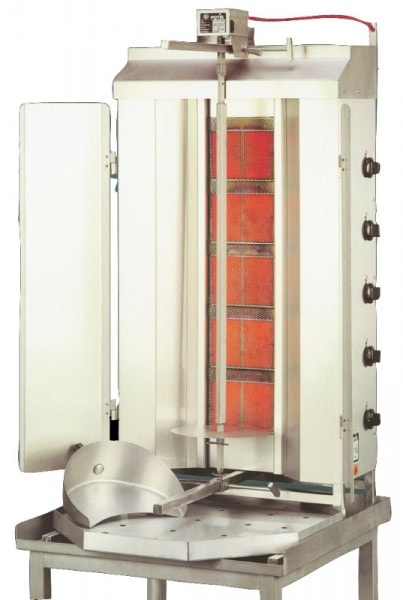 Gas-Gyrosgerät Potis GD5 - 670x750x1310mm - komplett mit Fettwanne - Stellfläche 670x750 mm - Geräte