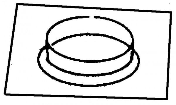 Bundkragen mit Platte - 400x400x50 mm