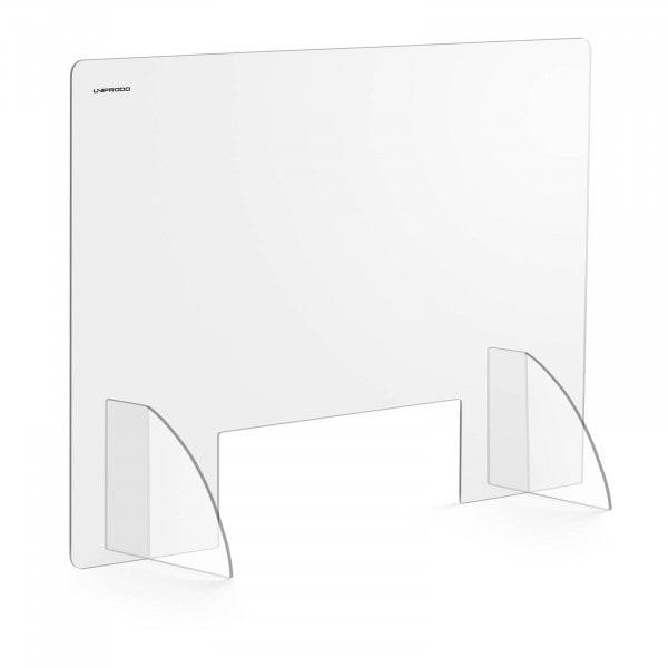 Spuckschutz - 95 x 65 cm - Acrylglas - Durchreiche 30 x 10 cm