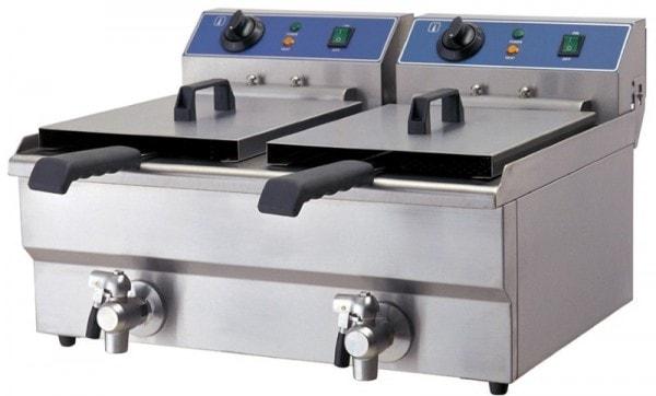 Doppel-Friteuse - Elektro - 570x460x325 mm