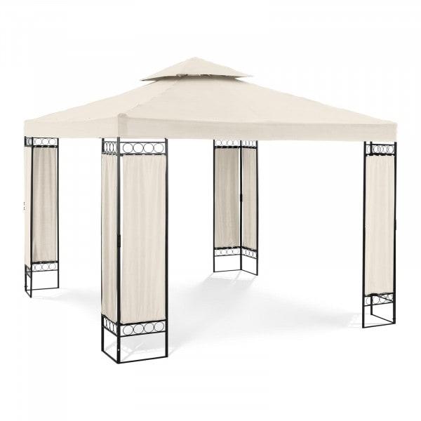 Gartenpavillon - 3 x 3 m - 160 g/m² - creme