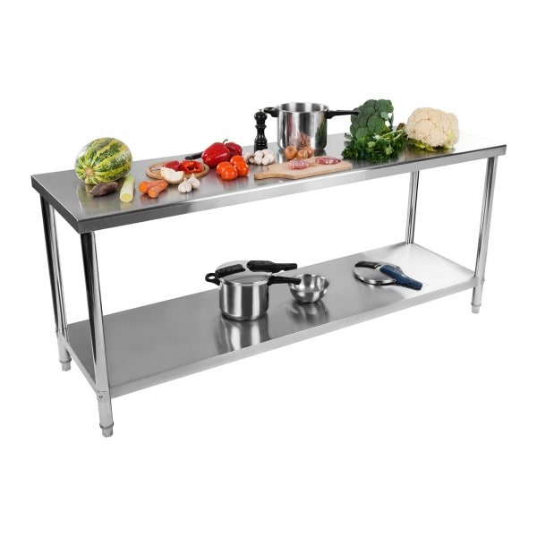 Stainless Steel Work Table - 200 x 60 cm - 160 kg capacity