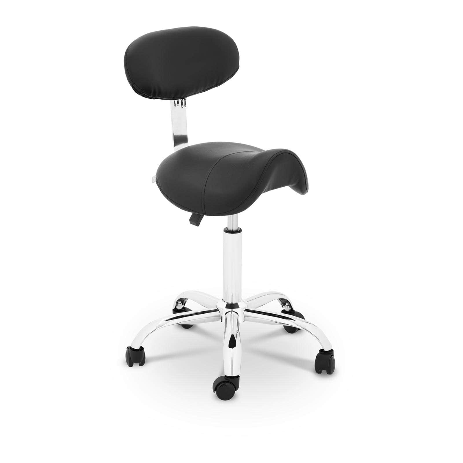 Czarne krzesło siodłowe Hamburg - oparcie