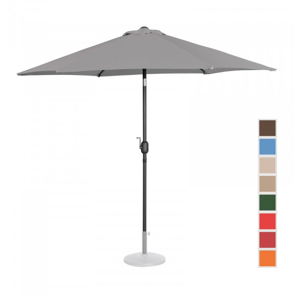 Occasion Parasol de terrasse - Anthracite - Hexagonal - Ø 270 cm - Inclinable