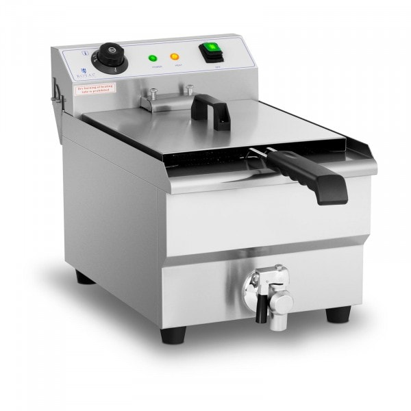 Commercial Fryer - 13 litres - 3,200 W - drain tap - cold zone