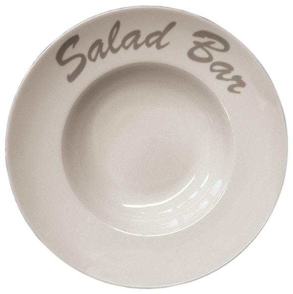 Pasta-/Salatteller Ø 300 mm - aus robustem Porzellan - Rand
