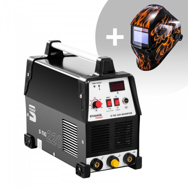 TIG-svets - 220 A - 230 V + Svetshjälm - Firestarter 500 - Advanced Series