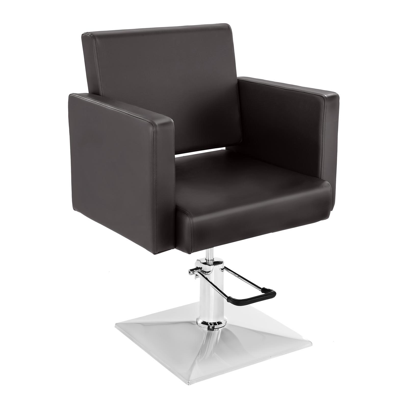 Fotel fryzjerski Bedford - brązowy - 200 kg