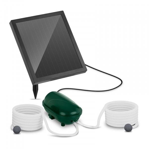 B-Ware Solar-Teichbelüfter - 2 Steine - 200 l/h - Akku