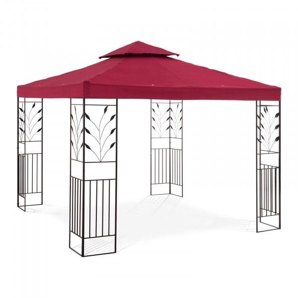 Gartenpavillon - 3 x 3 m - 180 g/m² - weinrot