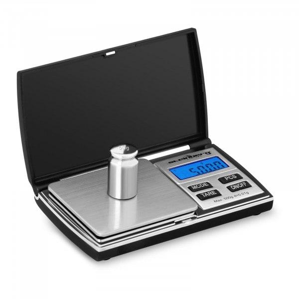 Digitale Taschenwaage - 500 g - 0,05 g / 200 g - 69 x 64 mm