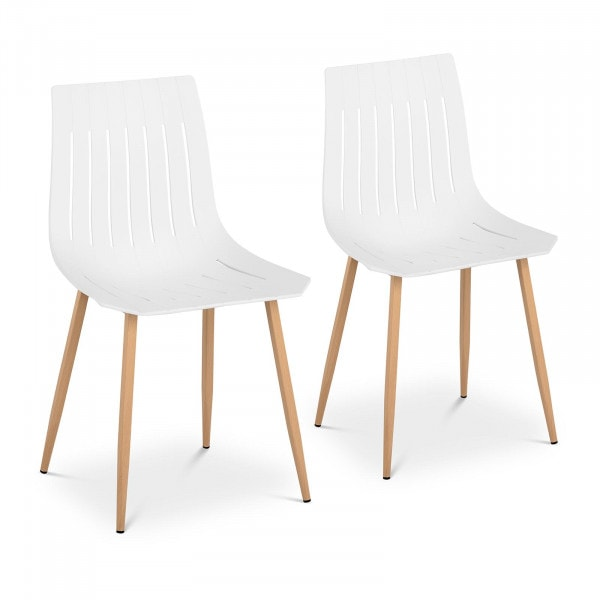 Chair - set of 2 - up to 150 kg - seat 50 x 47 cm - white