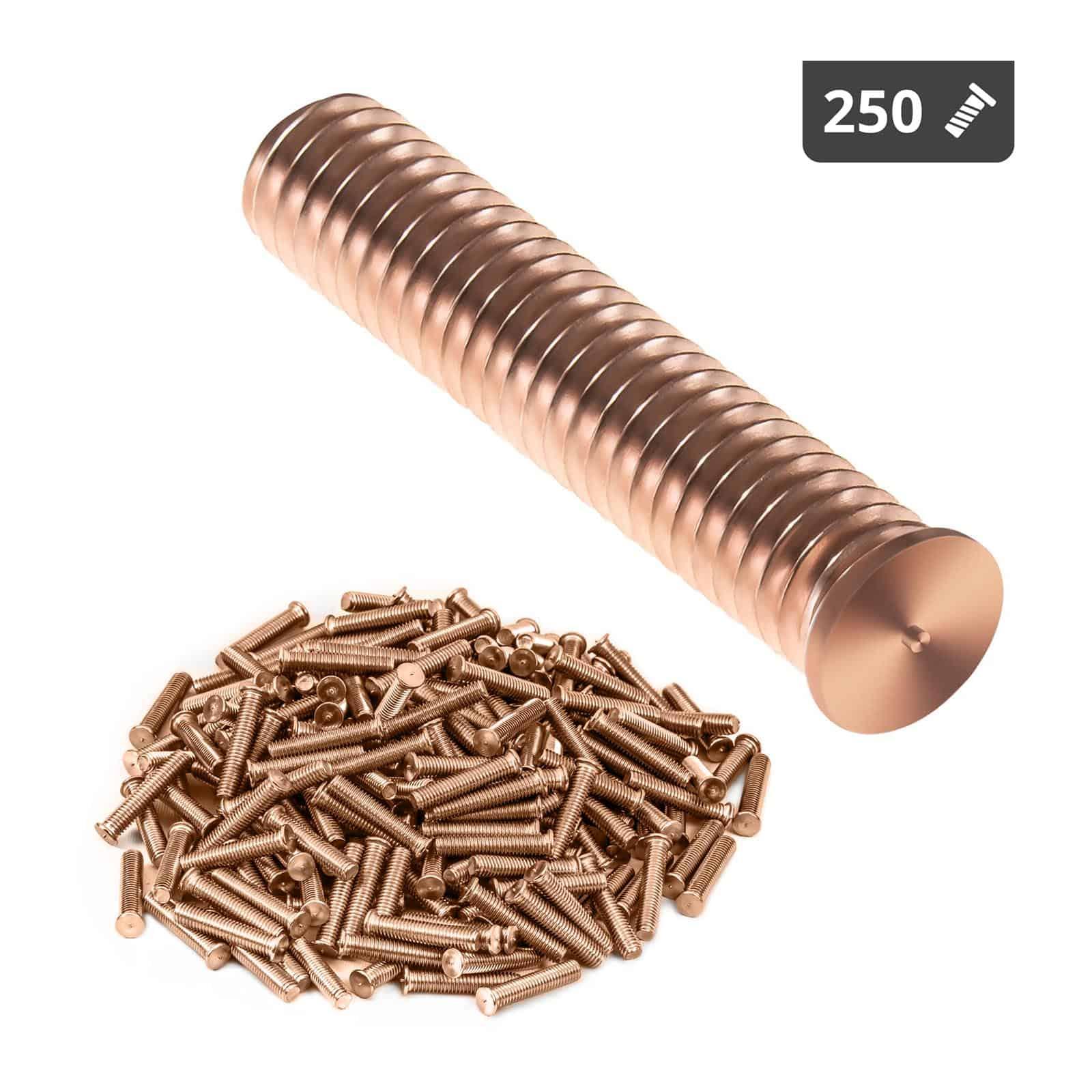 Kołki do zgrzewania - M8 - 40 mm - 250 sztuk