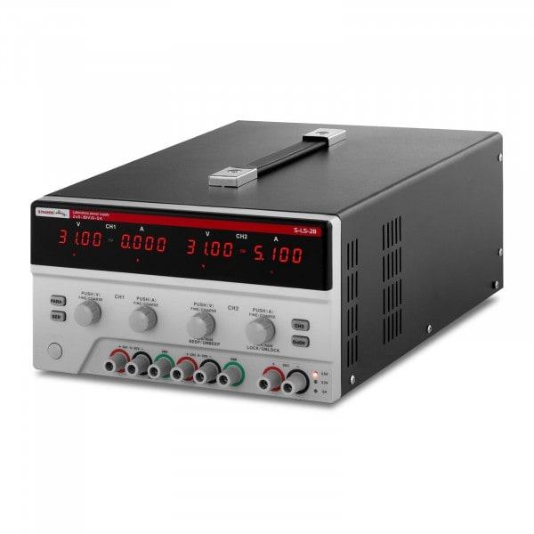 Dual Power Supply - 2x 0-30 V, 0-5 A DC, 550 W