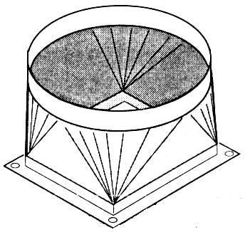 Ausblasstutzen - 443x495x335 mm