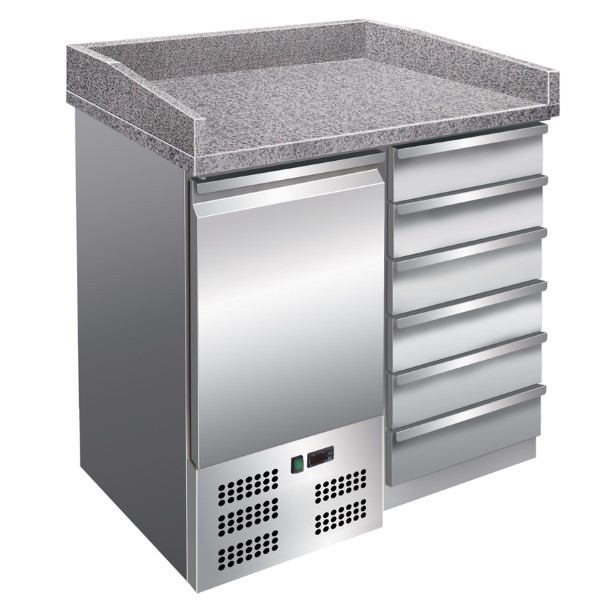 Pizzakühltisch - 955x700x1020mm