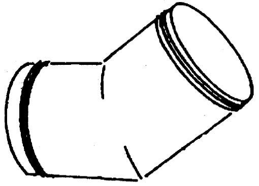 45° Bogen - 327x375x403mm
