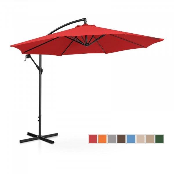 Hanging Parasol - red - round - Ø 300 cm - tiltable