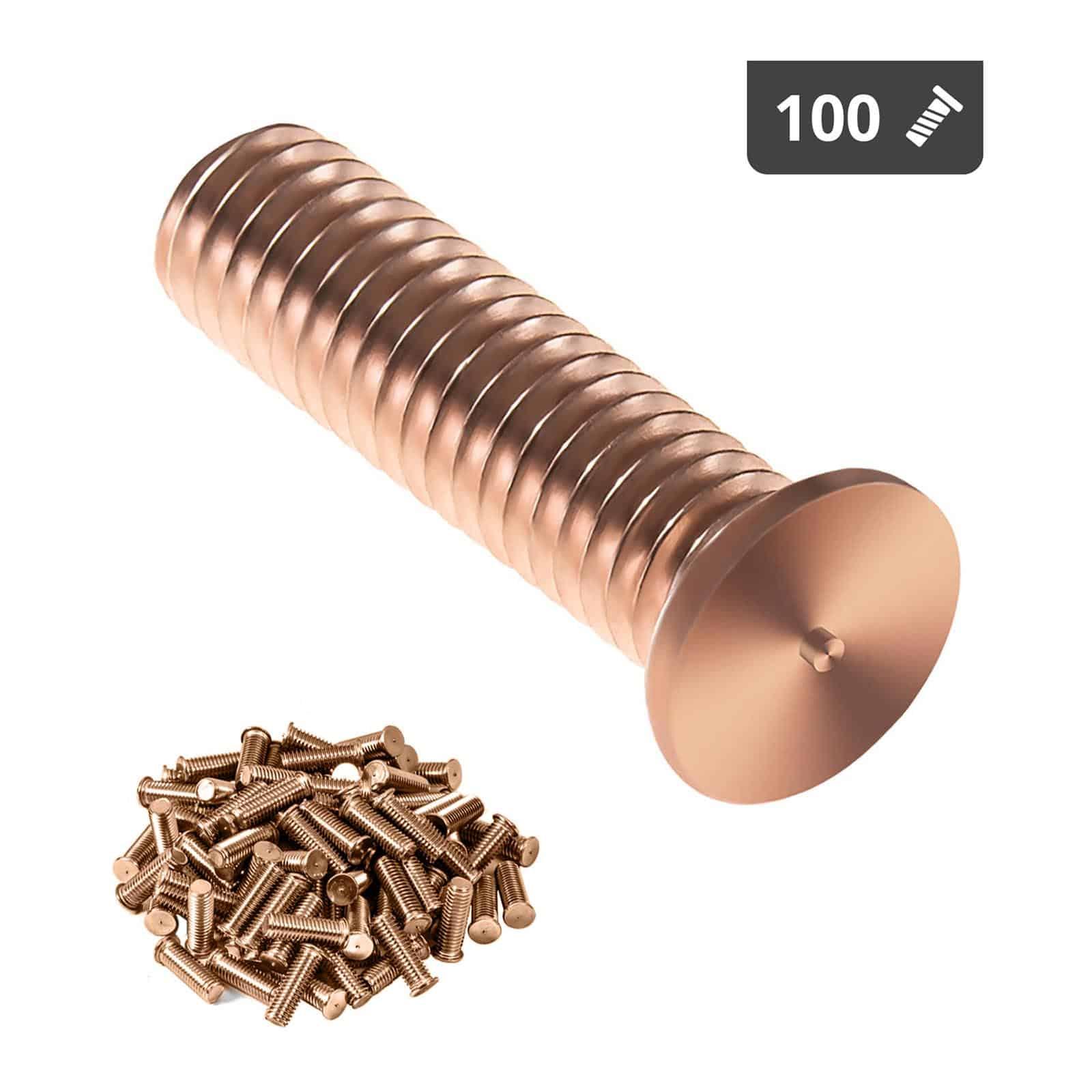 Kołki do zgrzewania - M3 - 12 mm - 100 sztuk
