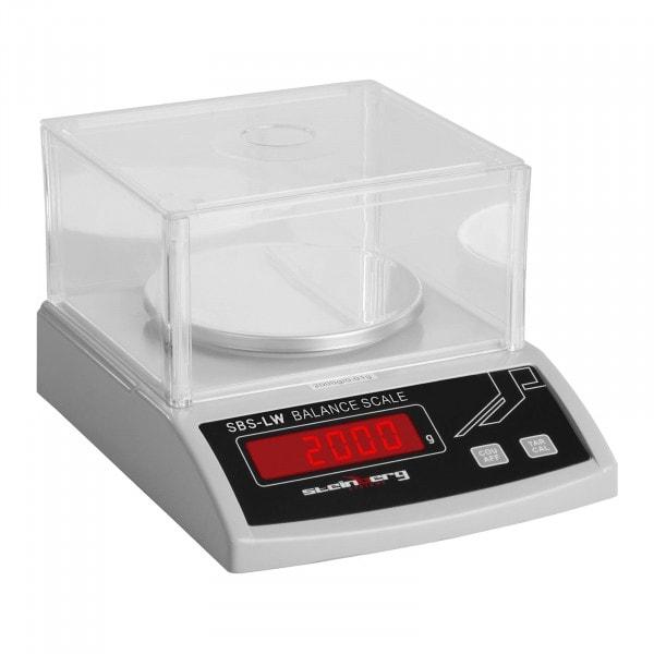 Präzisionswaage - 2000 g / 0,01 g - weiß