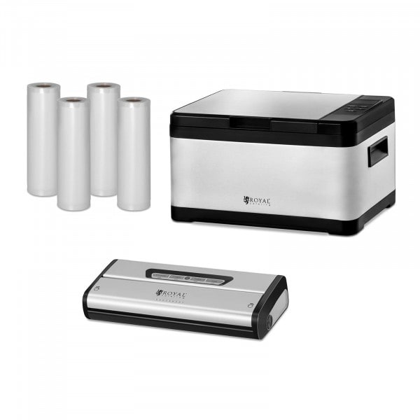 Sous-Vide Cooker Set - Incl. Vacuum Sealer and Vacuum Rollers - 8 L