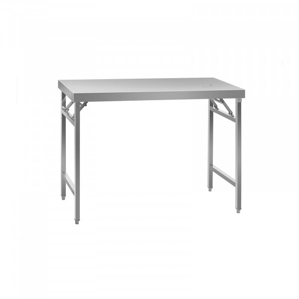 Folding Work Table - Stainless Steel - 120 x 60 cm
