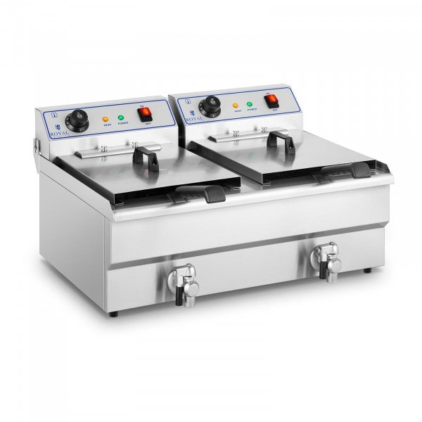 Electrical fryer - 2 x 16 L - 400 V