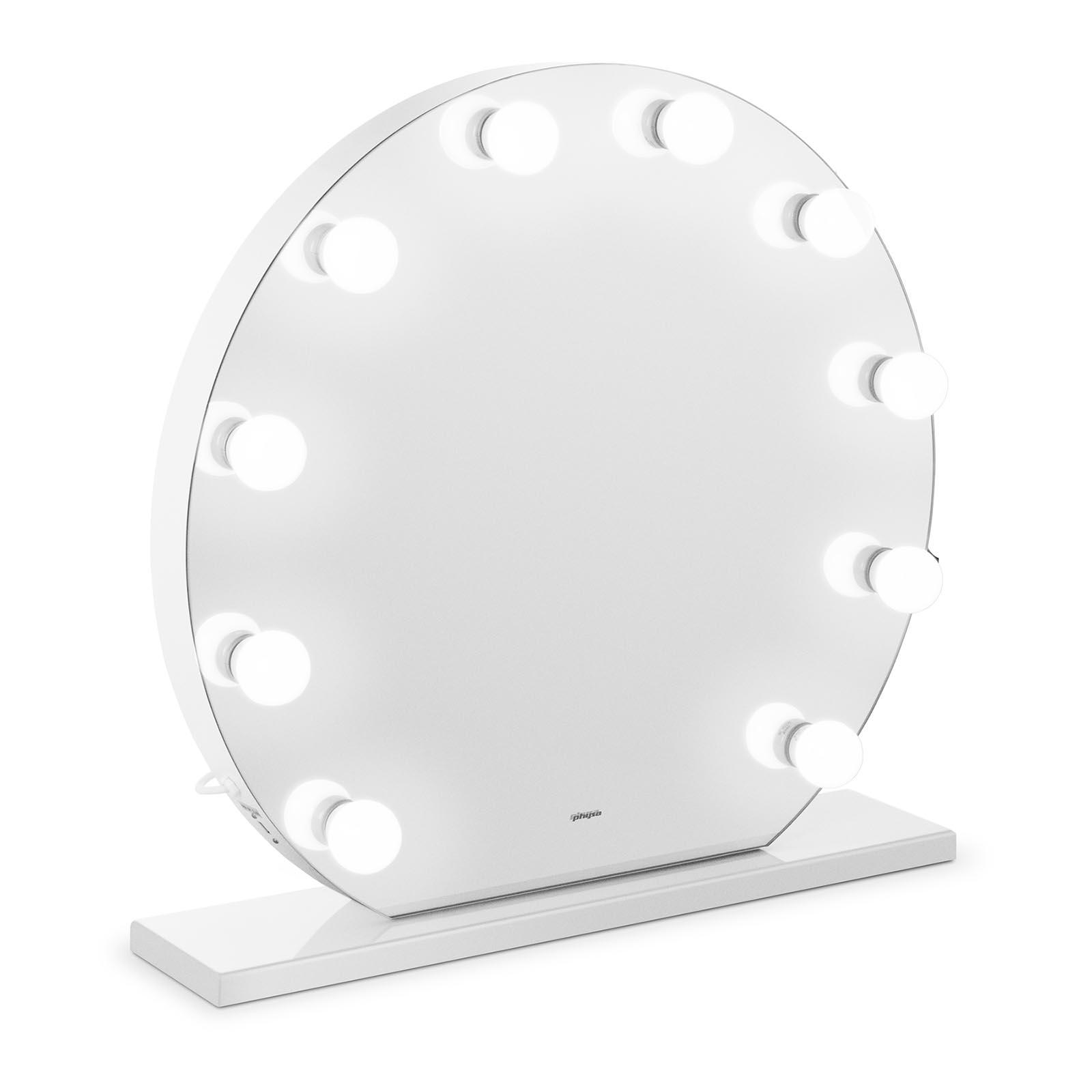 Lustro z żarówkami - LED - Ø70 cm