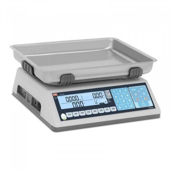 Balança de loja - 30 kg / 10 g - LCD - PLU - legalização