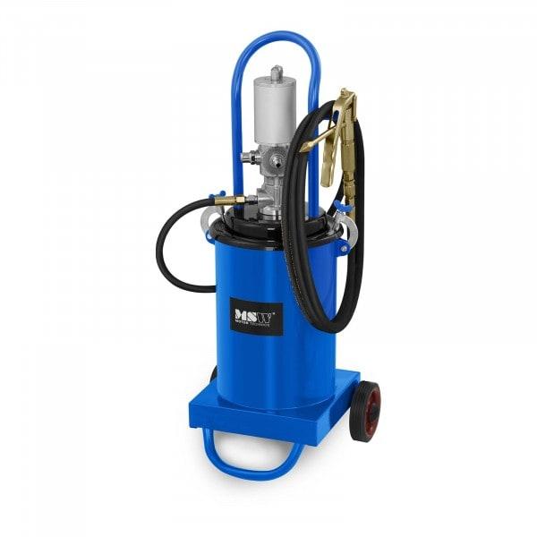 Zboží z druhé ruky Pneumatický mazací lis - 12 litrů - pojízdný - tlak čerpadla 240-320 barů