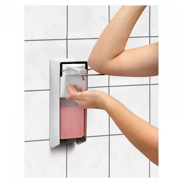 Gesamtansicht von Bartscher Seifenspender - 1 Liter - Ellbogenbedienung