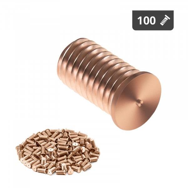 Schweißbolzen - M8 - 15 mm - Stahl - 100 Stück
