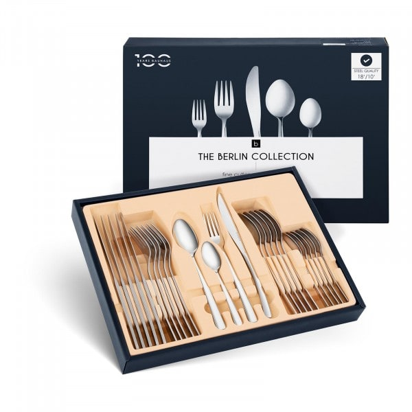 Stainless Steel Cutlery Set - 24 pcs. - 6 people - BERLIN COLLECTION