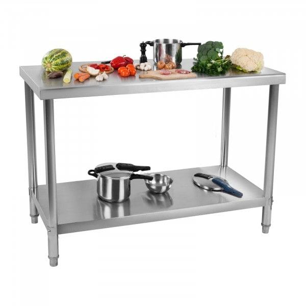 B-Sortiment Arbetsbord i rostfritt stål - 120 x 60 cm - 137 kg