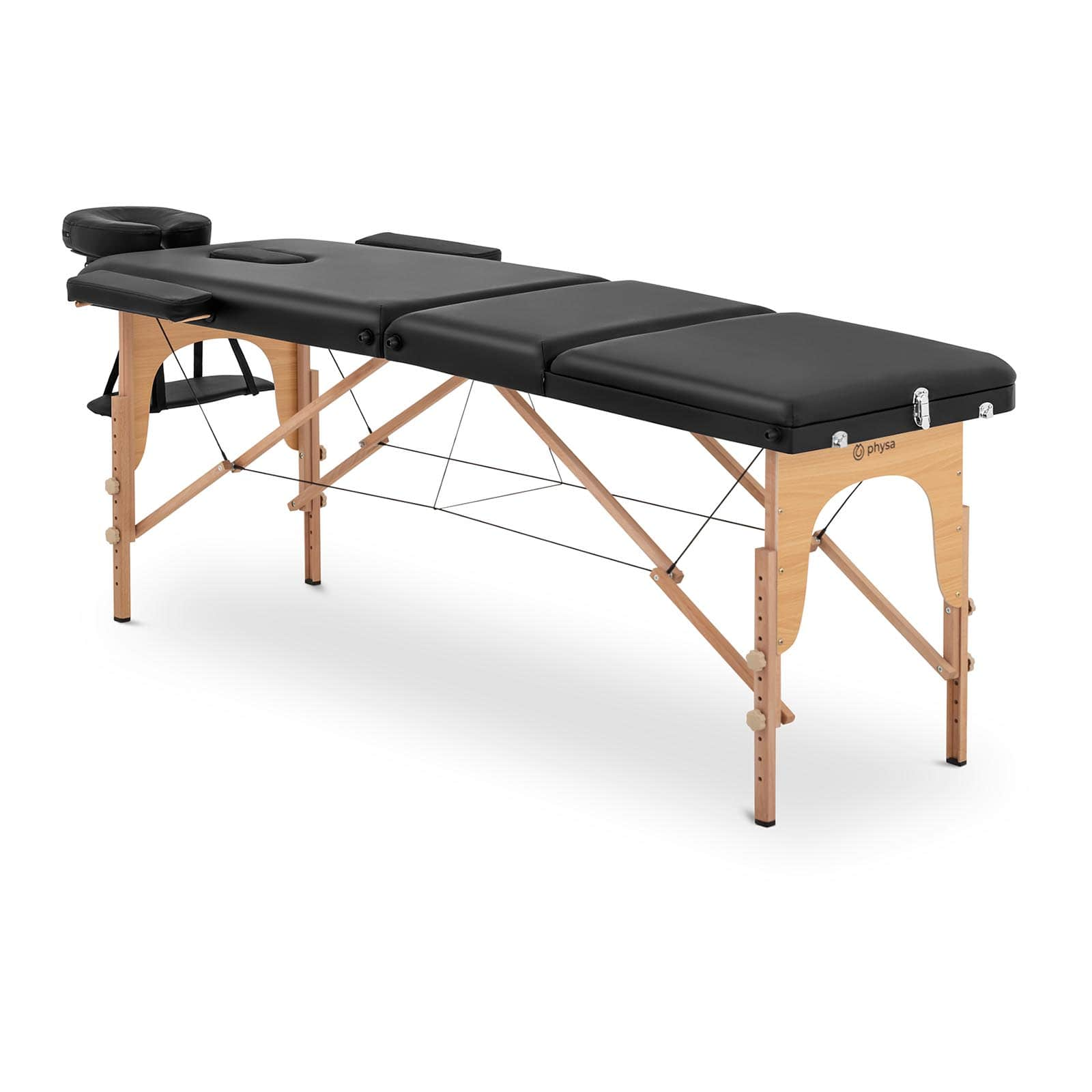 Łóżko do masażu Marseille Black - składane - czarne
