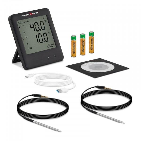 Rejestrator temperatury - od -200 do 250°C - LCD