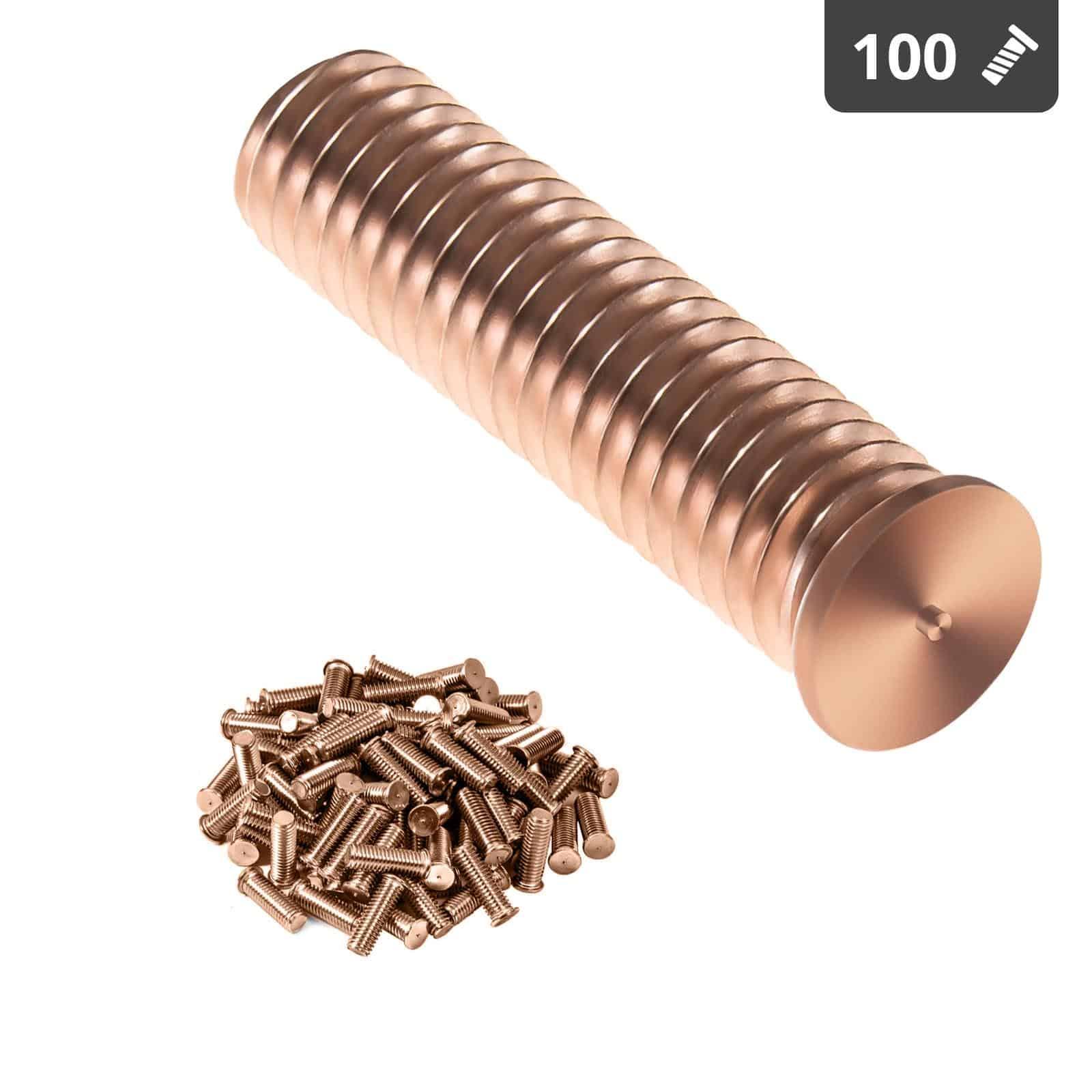 Kołki do zgrzewania - M10 - 40 mm - 100 sztuk