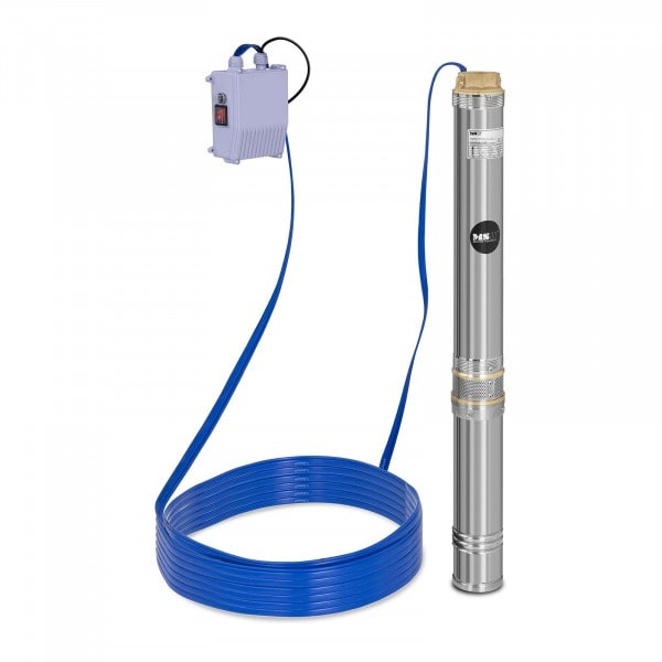 Dypbrønnspumpe - 10 800 l/t - 1 100 W - Edelstål
