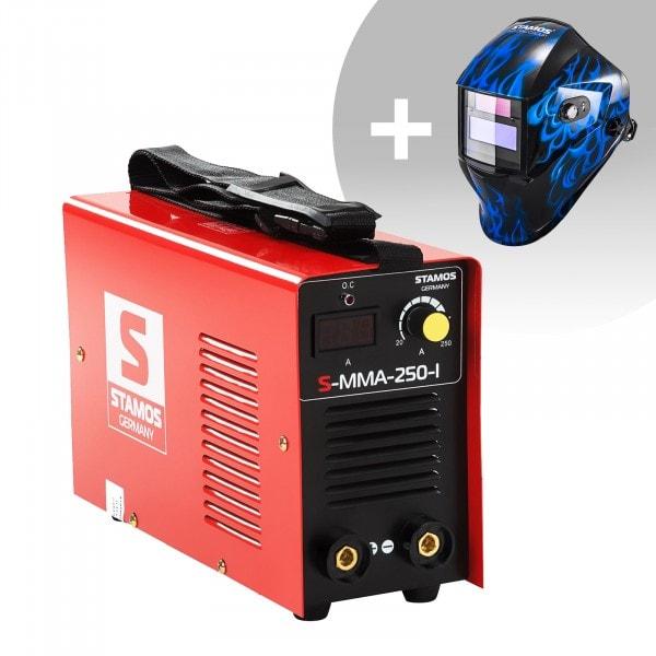 Schweißset Elektroden Schweißgerät - 250 A - 230 V - IGBT + Schweißhelm – Sub Zero
