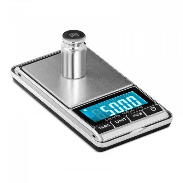 Digitale Taschenwaage - 500 g - 0,05 g / 200 g - 62 x 54 mm - Kunstlederetui