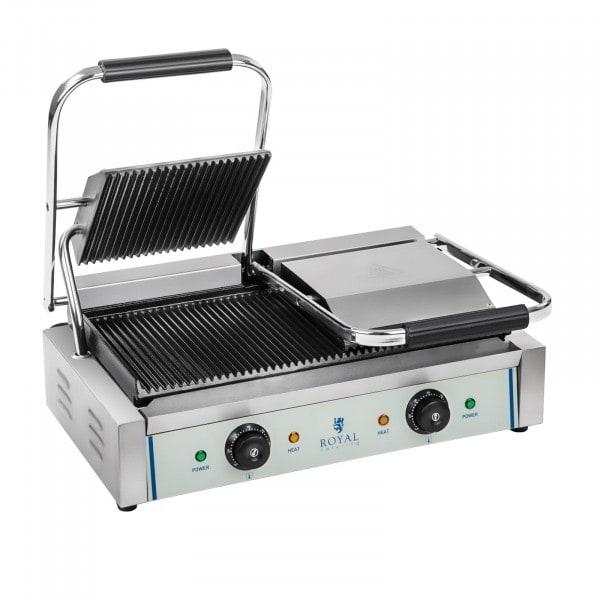 Segunda Mano Plancha grill doble - ondulada - 2 x 1.800 W