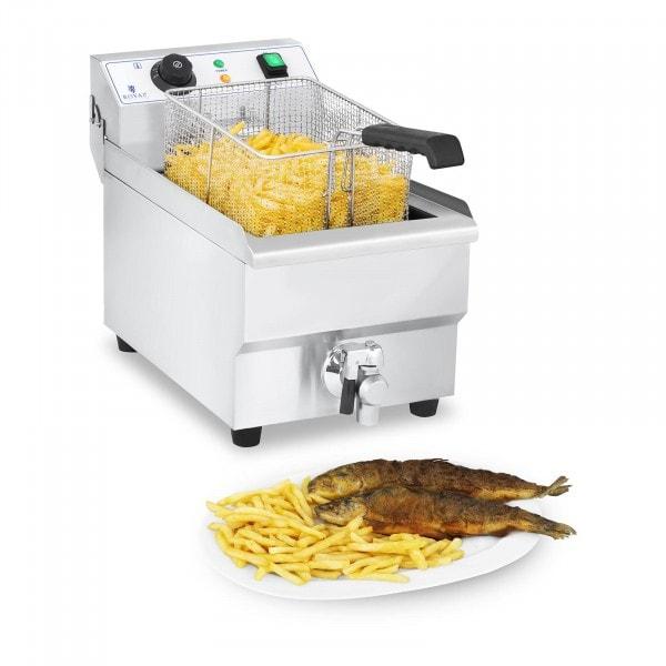 Elektro-Fritteuse - 10 Liter mit Ablasshahn