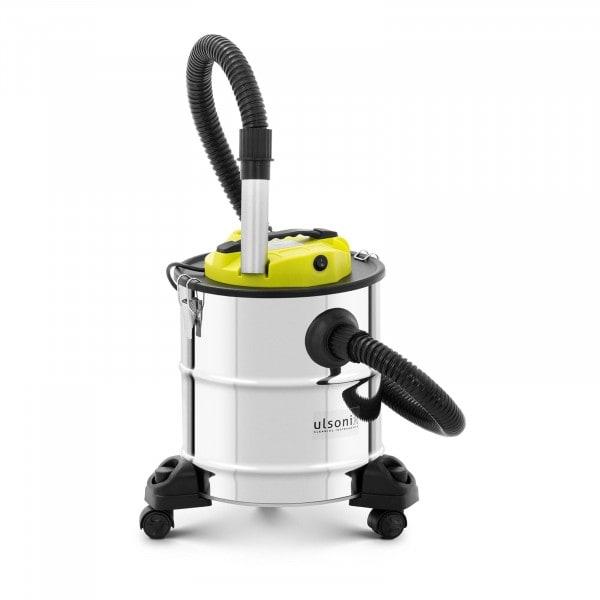 Aschesauger - 1.200 W - Edelstahl - HEPA-Filter - Räder