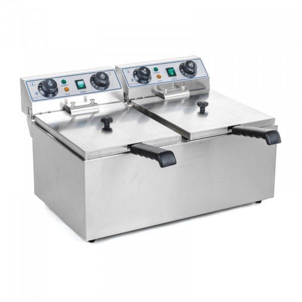 Occasion Friteuse électrique double - 2 x 13 litres avec minuterie (60 min.)