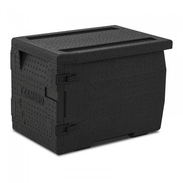 Caja térmica para alimentos - 3 contenedores GN 1/1 (10 cm de profundidad) - carga frontal