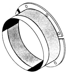 Bundkragen lose - 335x335x50 mm