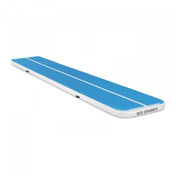 Nadmuchiwana mata gimnastyczna - 210 kg - 600 x 100 x 10 cm - niebieski