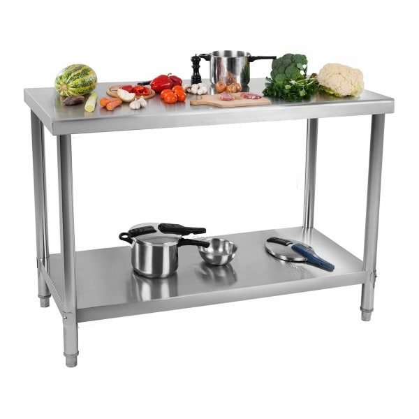 Stainless Steel Work Table - 120 x 70 cm - 143 kg capacity