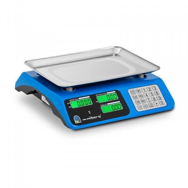 Artigos usados Balança de controlo - LCD - 40 kg / 2 g - Azul